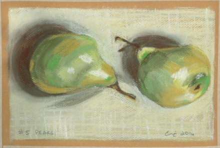 pastel exercises pears #5 over as many days