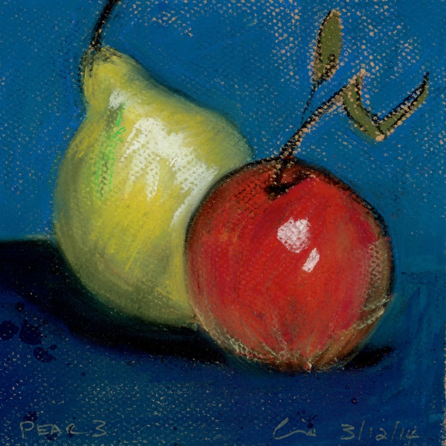 pastel exercises pears #3 over as many days